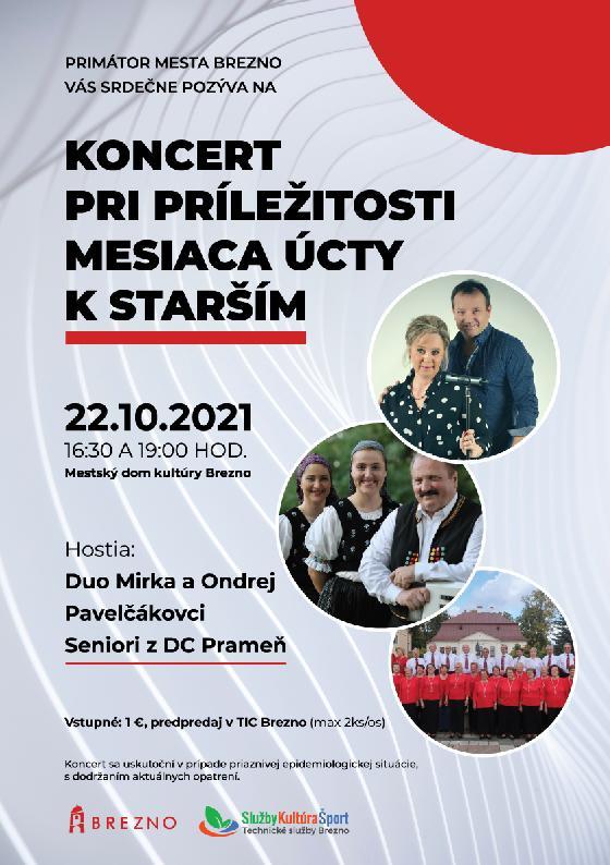 Koncert pri príležitosti mesiaca úcty k starším 2021