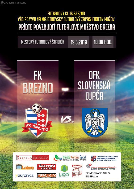 FK BREZNO - OFK SLOVENSKÁ ĽUPČA