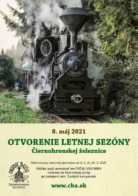 Otvorenie letnej sezóny Čiernohronskej železnice 2021