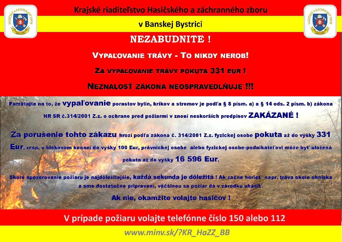 obr: Zvýšené riziko vzniku požiaru