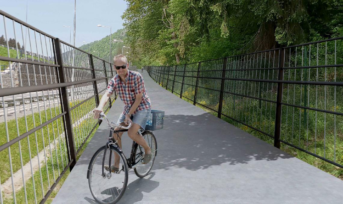 obr: Cyklotrasa Brezno – Valaská. S realizáciou nového projektu mesto začne už v marci