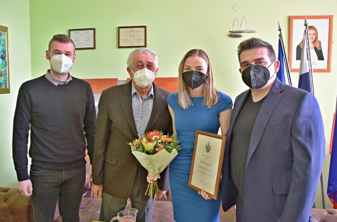 Primátor za úspešnú reprezentáciu poďakoval vicemajsterke sveta vbiatlone Henriete Horvátovej