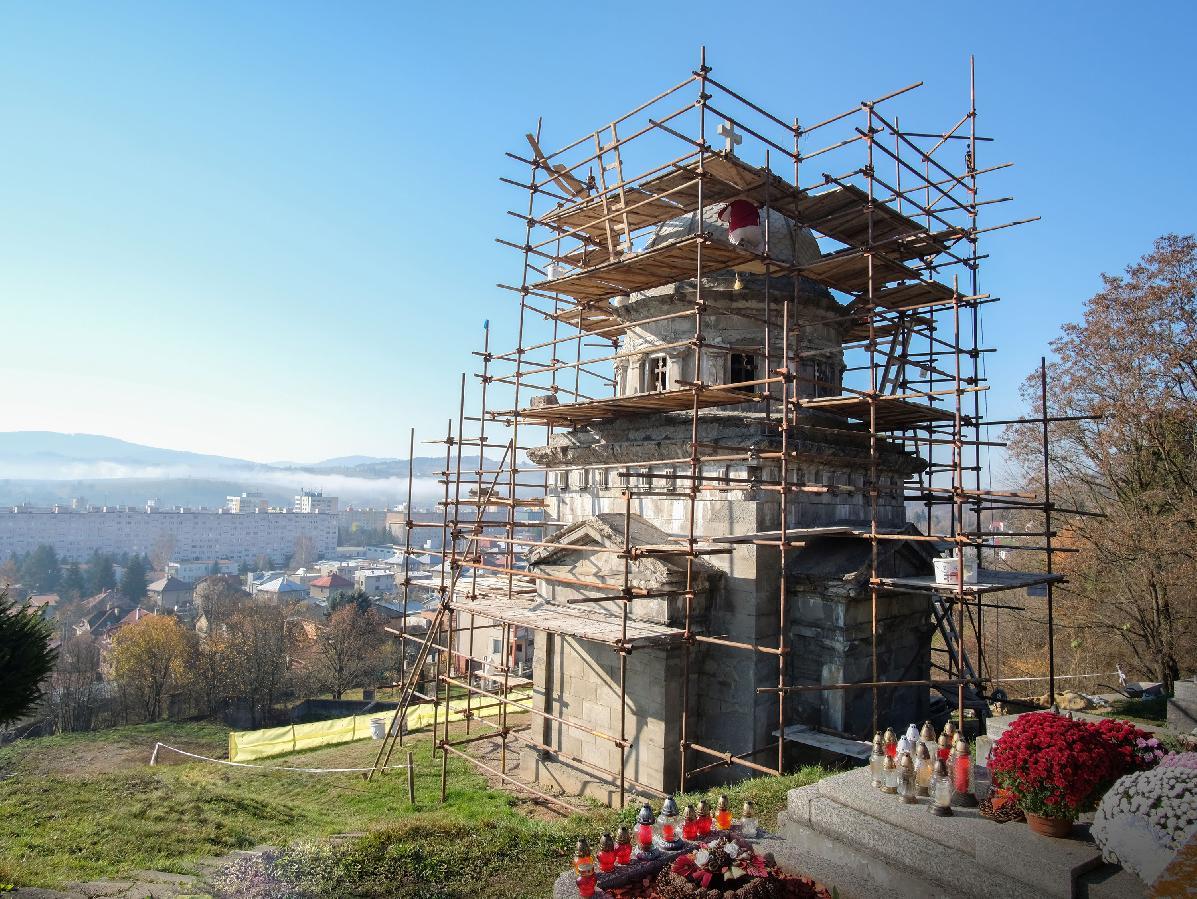 obr: Mesto čoskoro začne sdruhou etapou renovácie Hrobky rodu Lehotských