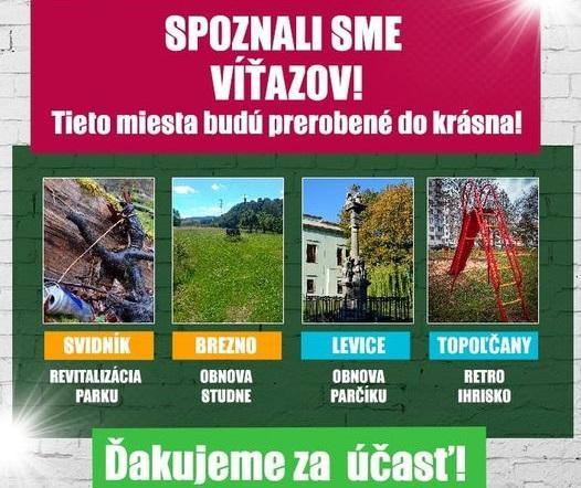 Ahoj krásne Slovensko. Brezno v súťaži vyhralo