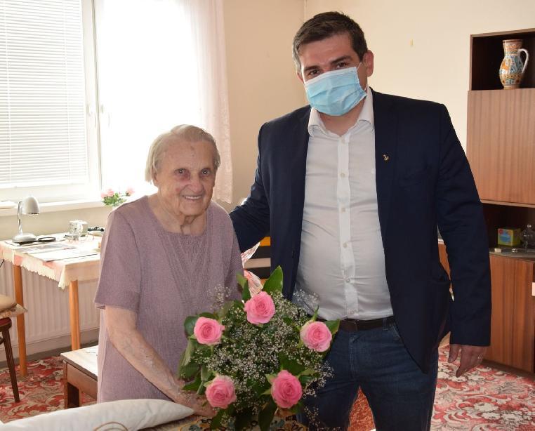 Primátor zablahoželal 100-ročnej jubilantke Ružene Wonkovej