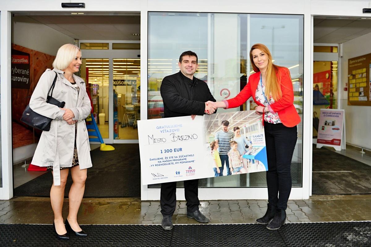 Vďaka hlasovaniu ľudí mesto získalo od Nadácie Tesco 1300 eur