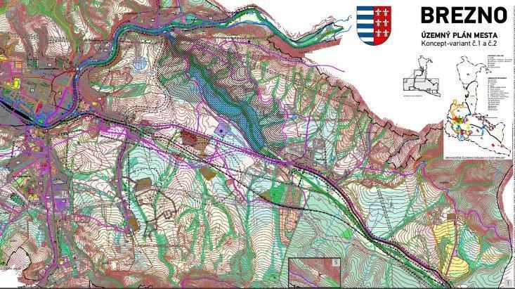 Oznámenie  o prerokovaní  Konceptu  územného  plánu  mesta  Brezno a žiadosť o stanovisko