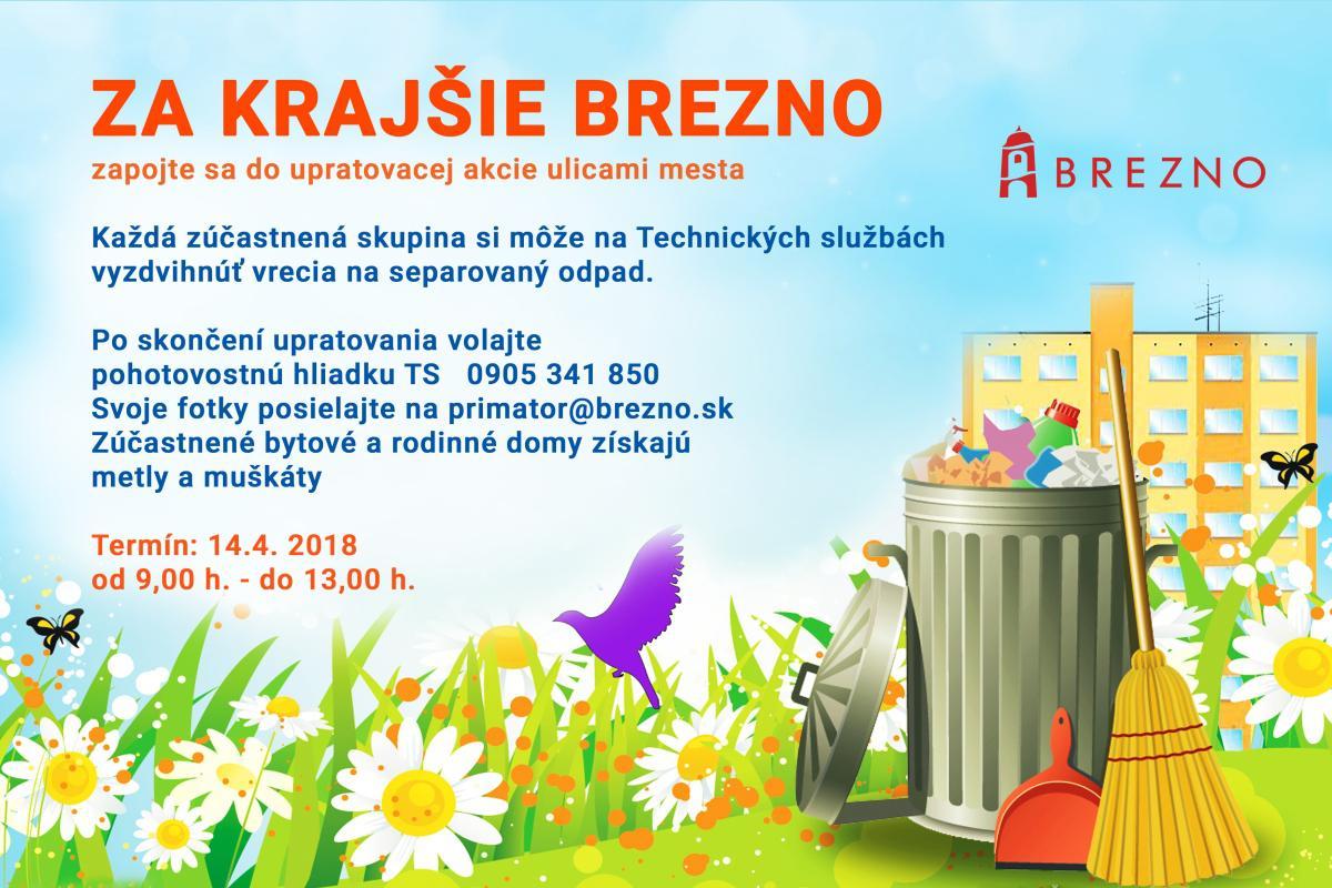 obr: Veľká upratovacia akcia Za krajšie Brezno
